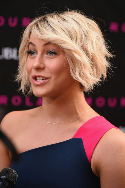 Julianne Hough bob for fine hair