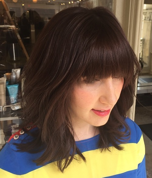 medium shag haircut with bangs
