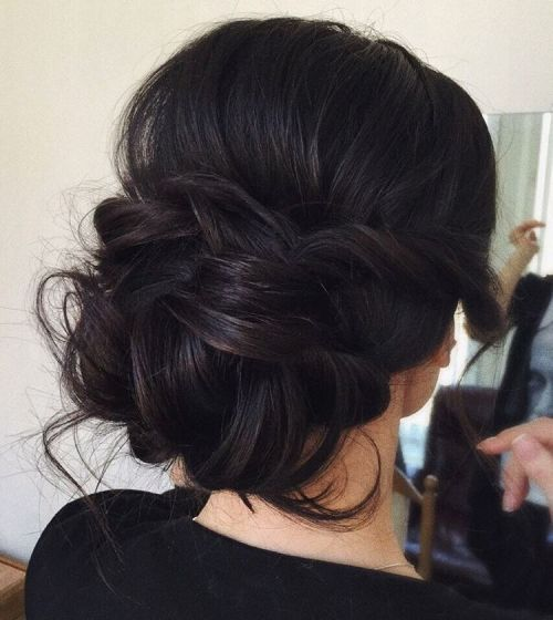 Messy Chignon With A Bouffant