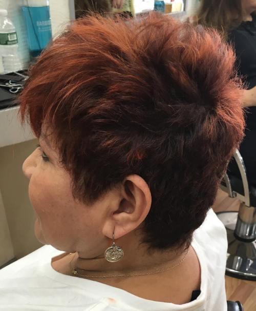 Sassy Short Haircut For Older Women