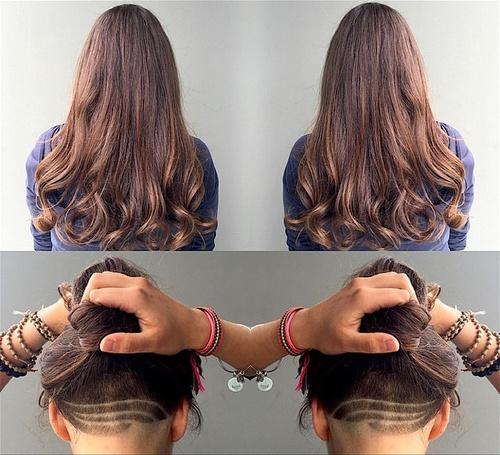 Nice Long Undercut Haircut