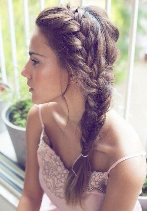 French Braid with Side Fishtail