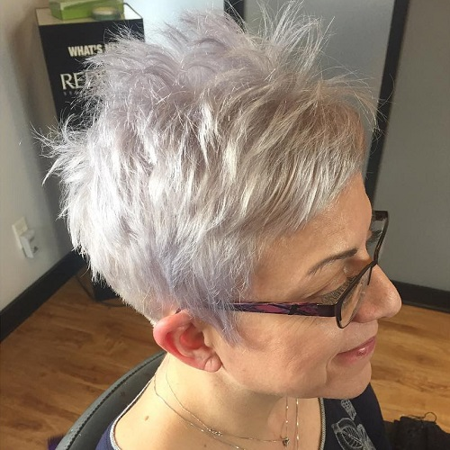 Lavender Pixie For Women Over 50