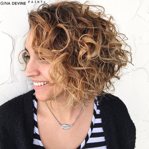 Messy Curly Bob