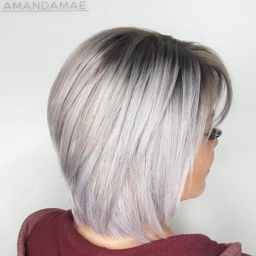Silver Bob With Black Roots