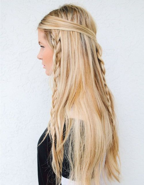 Loose Braid Hairstyle for Long, Thick Hair