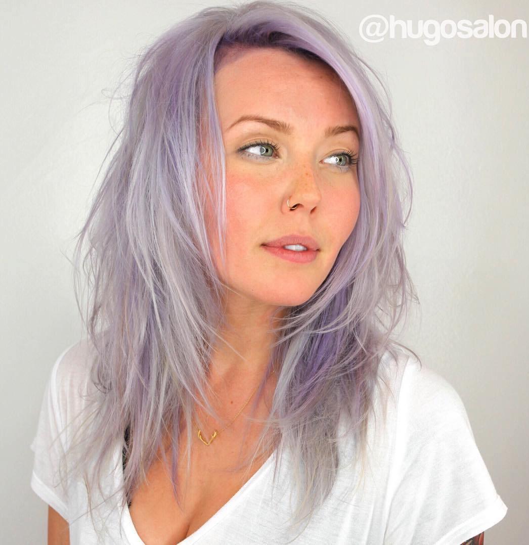 Lavender Shag Hairstyle