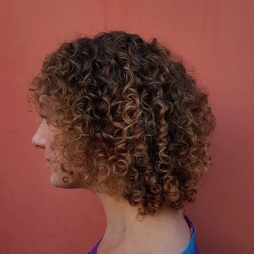 Brown Perm Hairstyle