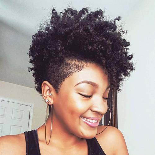 women's short mohawk haircut for <b>natural hair</b> - 8-womens-short-mohawk-haircut-for-natural-hair