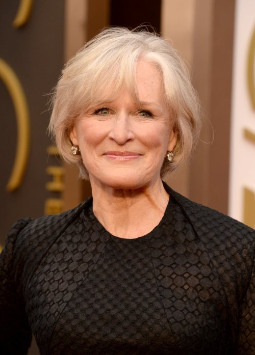 Glenn Close short blonde hairstyle