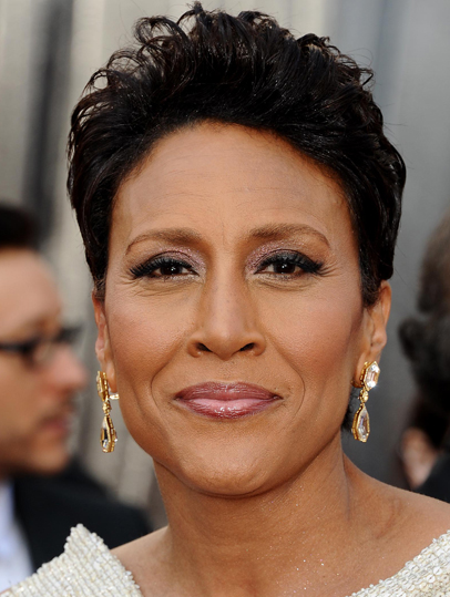 Robin Roberts short curly hairstyle