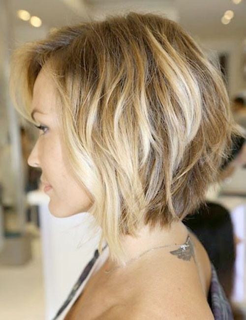 stacked wavy bob thick hair