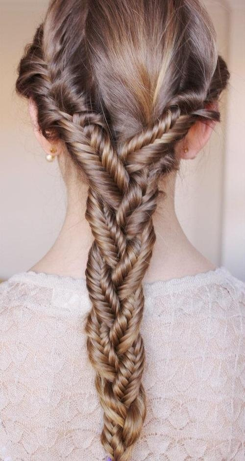 triple fishtail hairstyle