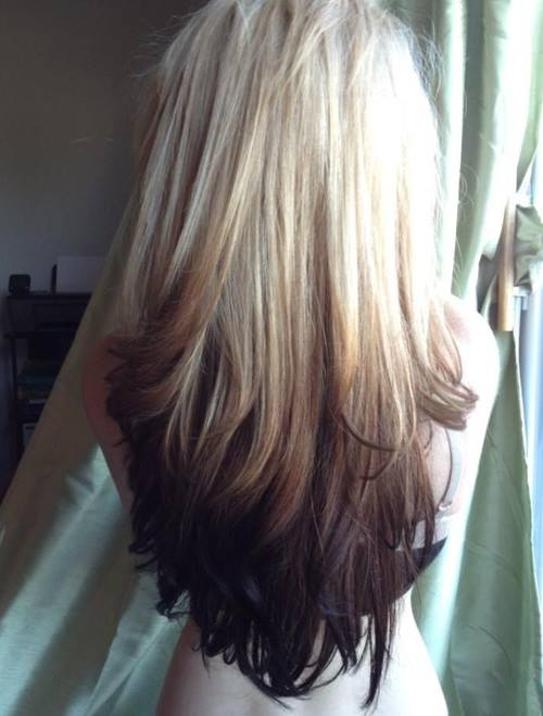 Reverse Ombre Hair With Perfect Fades Into Browns & Blacks