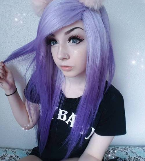 Pastel Purple Reverse Ombre Hair