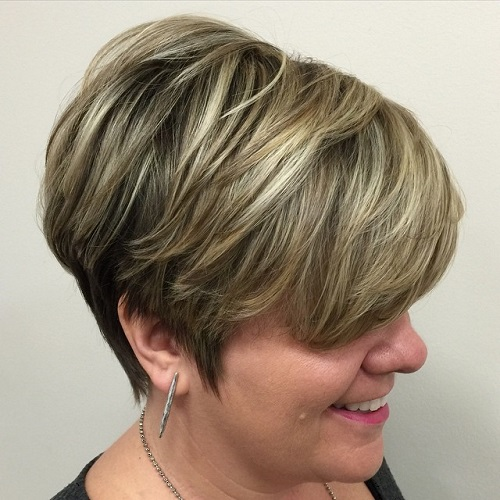 Over Layered Pixie Hairstyle