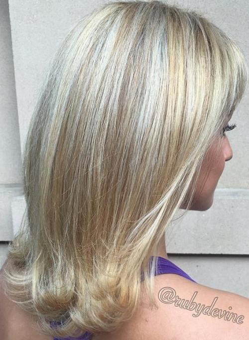 Platinum Hair With Golden Blonde Highlights