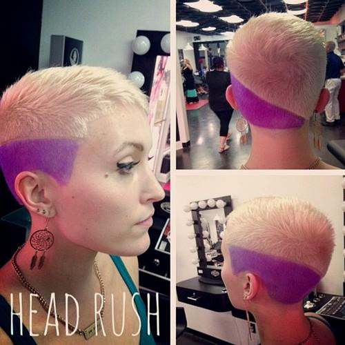 short blonde haircut for girls