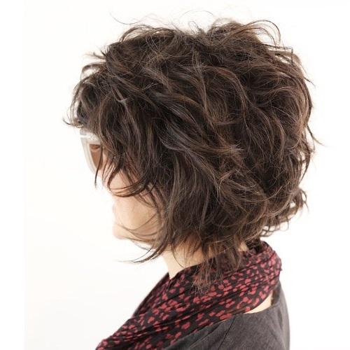 Short To Medium Tousled Hairstyle