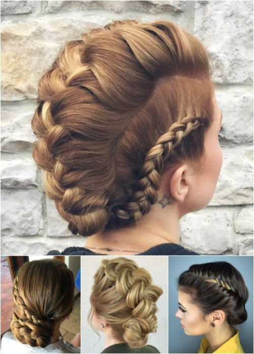 sleek braided updos