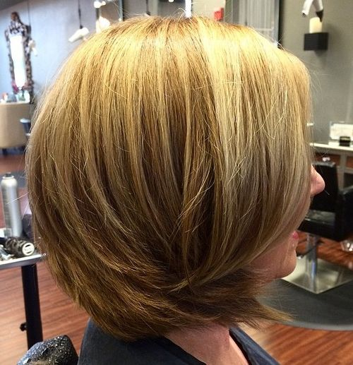 layered collarbone bob for thick hair