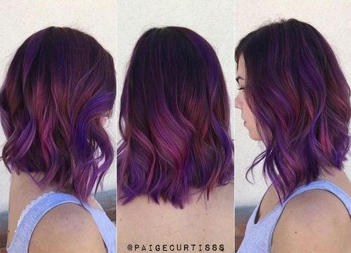 Purple Highlights For Blonde Brown And Red Hair Colors Best