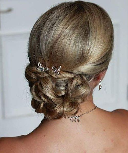 Low Wedding Elegant Updo With Twists