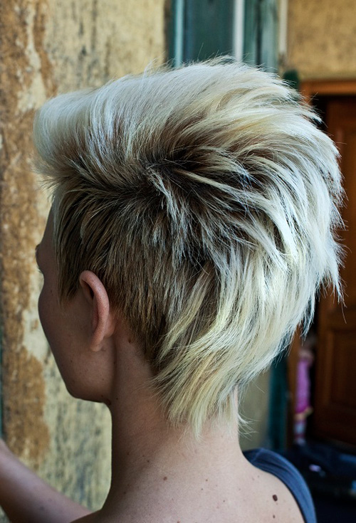 short mohawk-inspired haircut