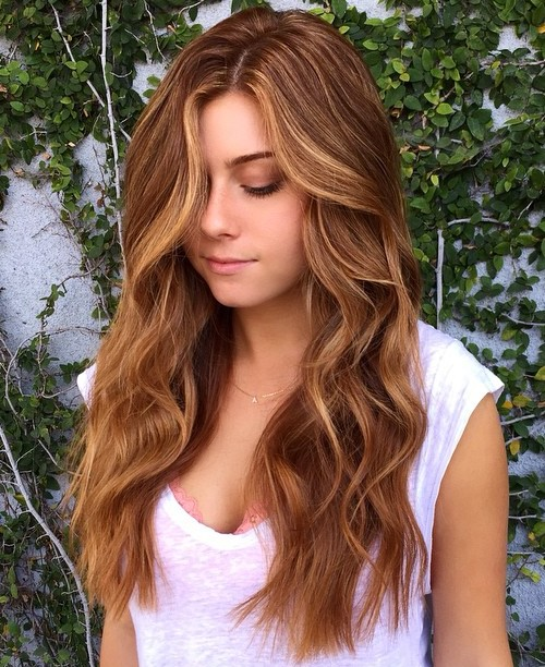 Caramel Brown Hair With Strawberry Blonde Highlights