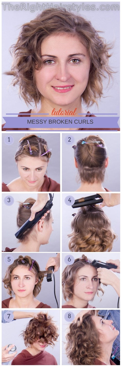 hair tutorial short curly hairstyle