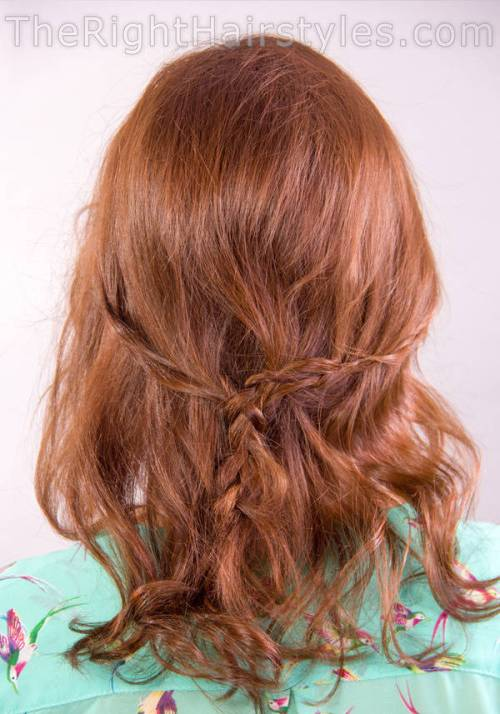 curly braided downdo