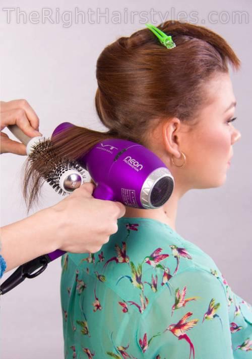 hair blow-drying