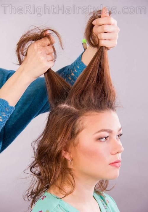 hair scrunching instructions