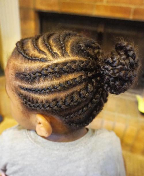Curvy Cornrows For Little Black Girls