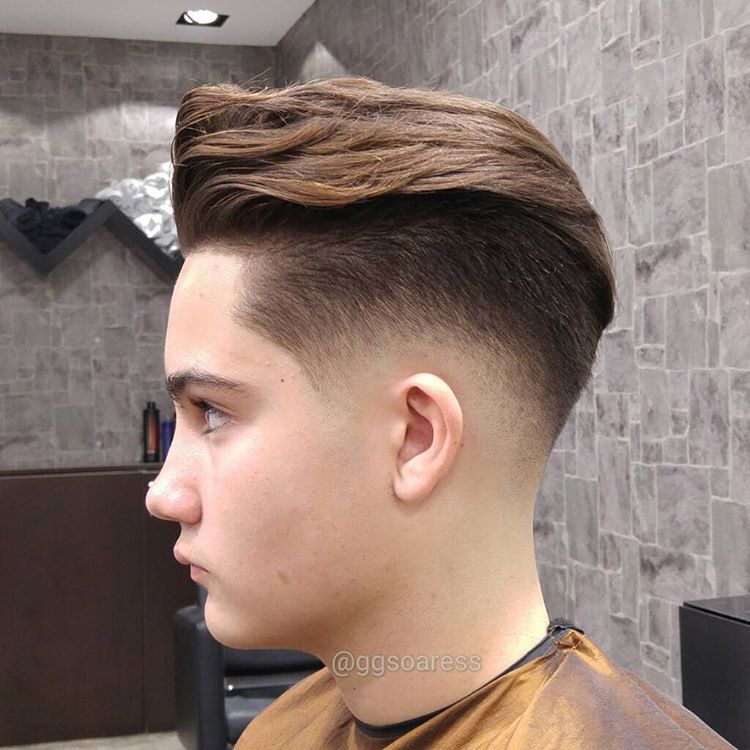 Burst Fade Hairstyle For Teenagers