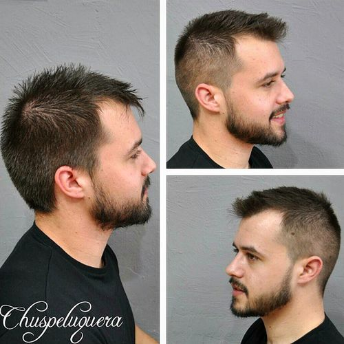 men's short haircut for thin hair