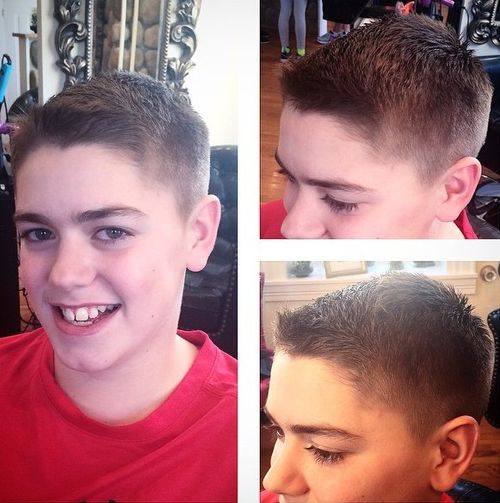Traditional Brush-Cut Guys Hairstyle For 12 Year Old