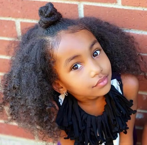 African American Natural Hairstyle For Kids