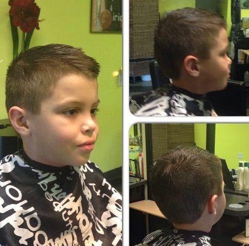 simple boys haircut