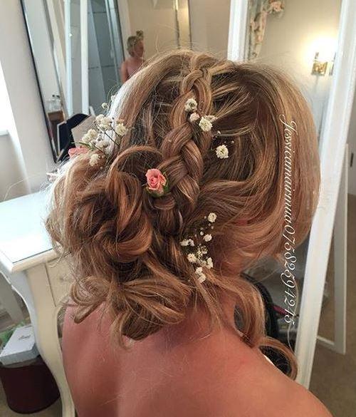 messy bridesmaids updo