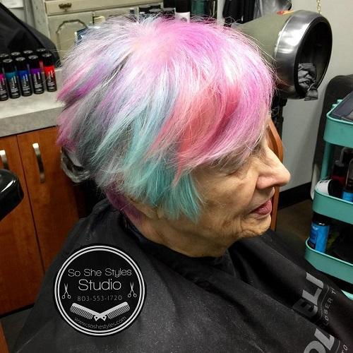 pastel hair for older women