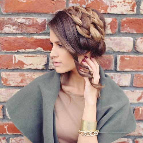 braided updo for thick hair