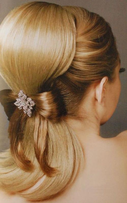 Babette updo for bridesmaids