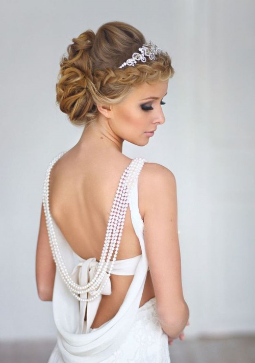 updo for bridesmaids with long hair