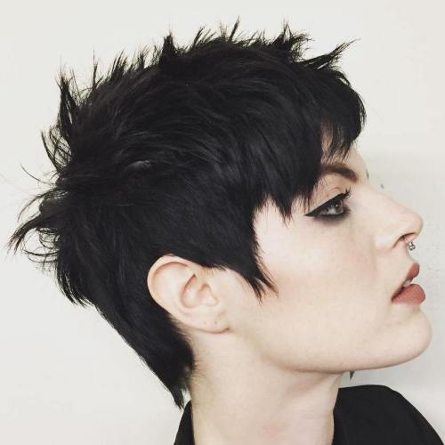 Black Spiky Pixie