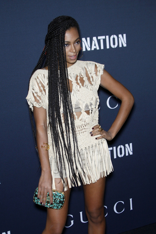 hairstyle with long box braids
