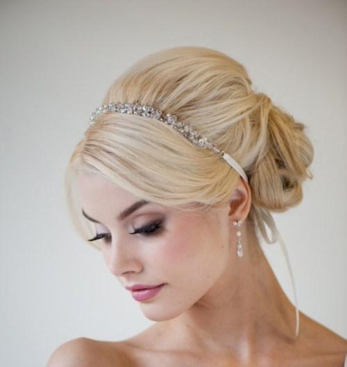 blonde wedding updo for long hair