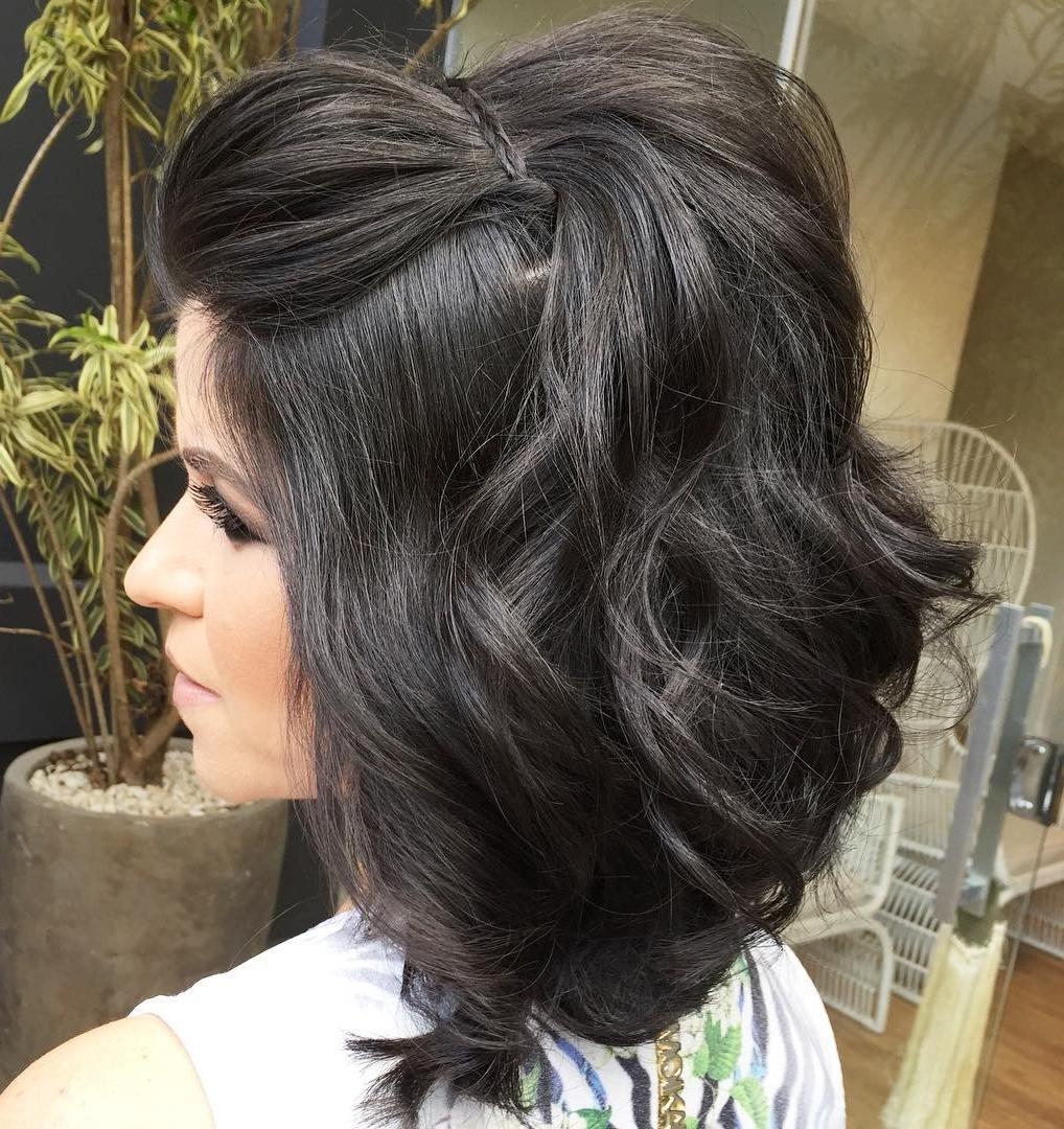 Formal Half Updo For Medium Hair coafuri de nuntă 2017. ce puteţi purta, să fiţi în trend Coafuri de nuntă 2017. Ce puteţi purta, ca să fiţi în trend 5 formal half updo for medium hair