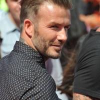 David Beckham tapered haircut