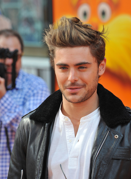 Zac Efron short grunge hairstyle